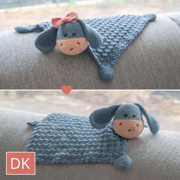 Cuddle Cloth Elly / Elliot DK - Hæklet nusseklud Elly / Elliot Dk