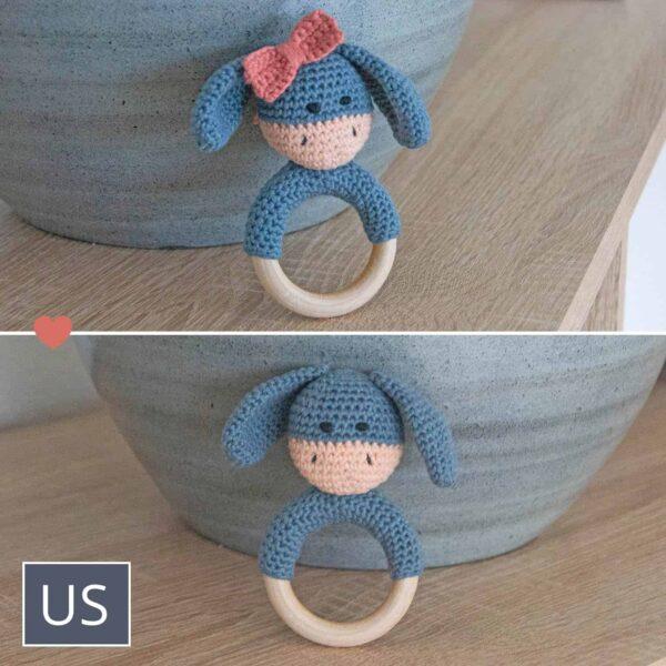 Hæklet Bidering Elly / Elliot - Crochet Teething Rattle Elly / Elliot