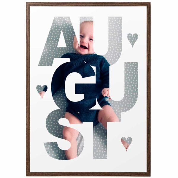 name-in-photo in frame - navn-i-billede i ramme