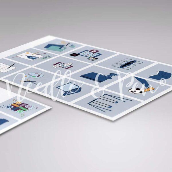 Personlige Print selv Piktogrammer - Custom printable pictograms - pictographs - Tilkøbspakke | Dreng - Piktogrammer