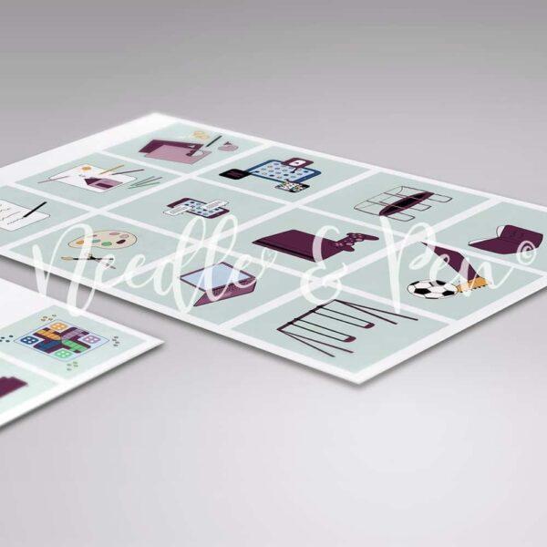 Personlige Print selv Piktogrammer - Custom printable pictograms - pictographs - Tilkøbspakke | Pige - Piktogrammer