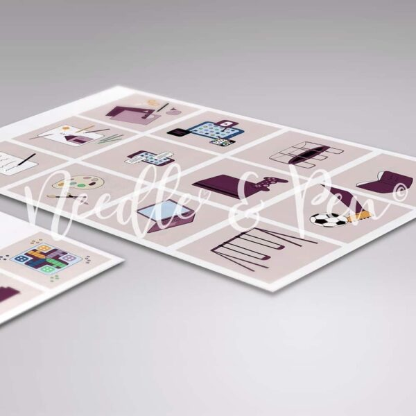 Personlige Print selv Piktogrammer - Custom printable pictograms - pictographs. Piktogrammer til børn