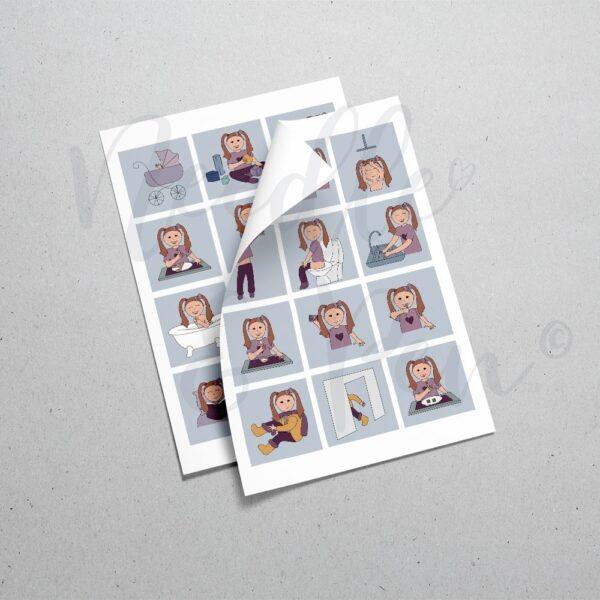 personlige print-selv piktogrammer | custom printable pictograms