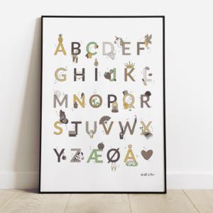 alfabetplakat - girly colors