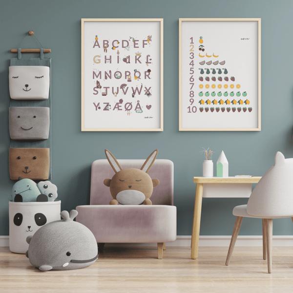 Valgfri Alfabetplakat + Valgfri Talplakat