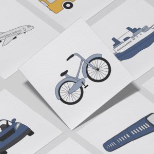 Piktogrammer til børn | Tilkøb: Transport-pakken
