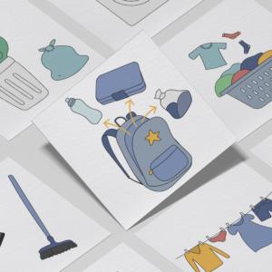 Piktogrammer til børn | Tilkøb: Pligter-pakken