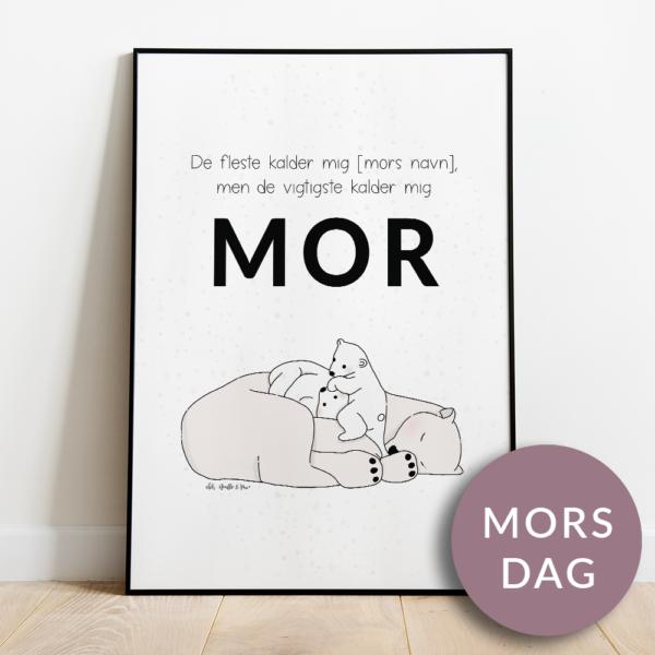 Mors dag plakat | de vigtigste kalder mig mor